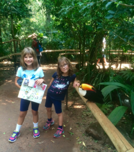 The girls loved seeing this Toucan so close up!