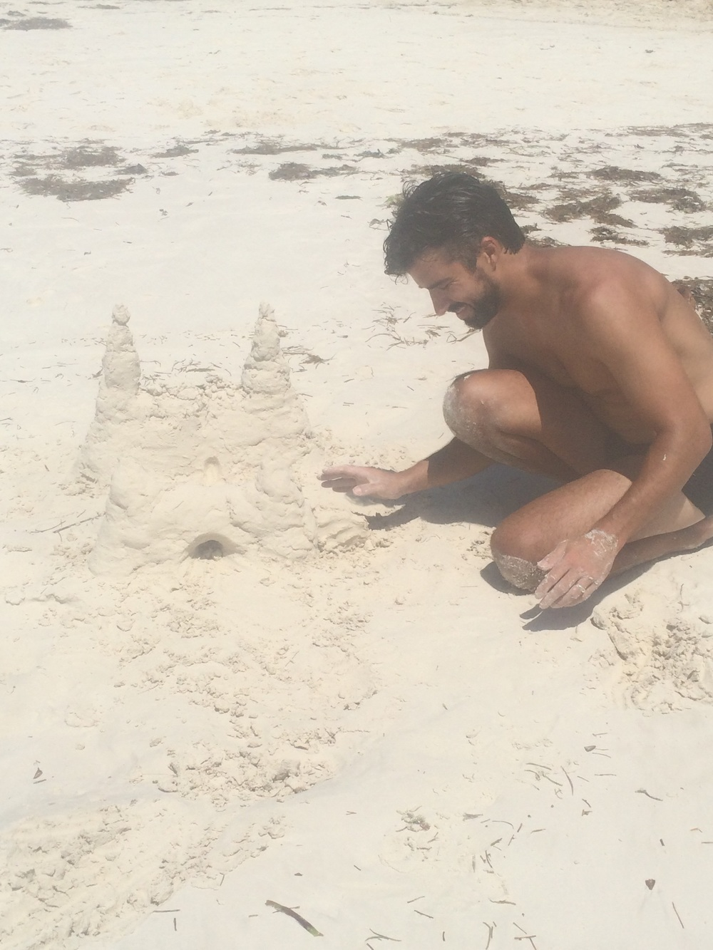 I think Anthony enjoyed making sandcastles the most!