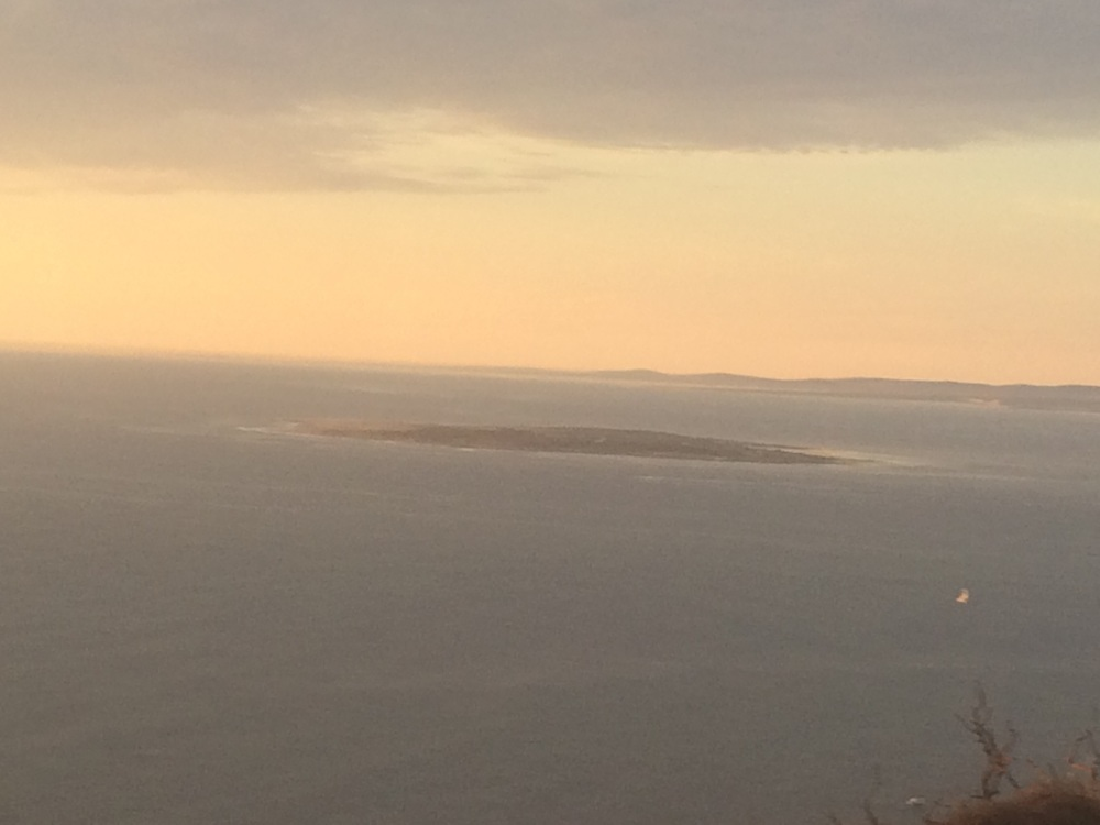 Robben Island at sunset
