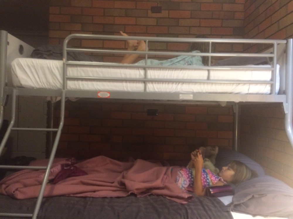 Sometimes the girls got to sleep in bunk beds, and....