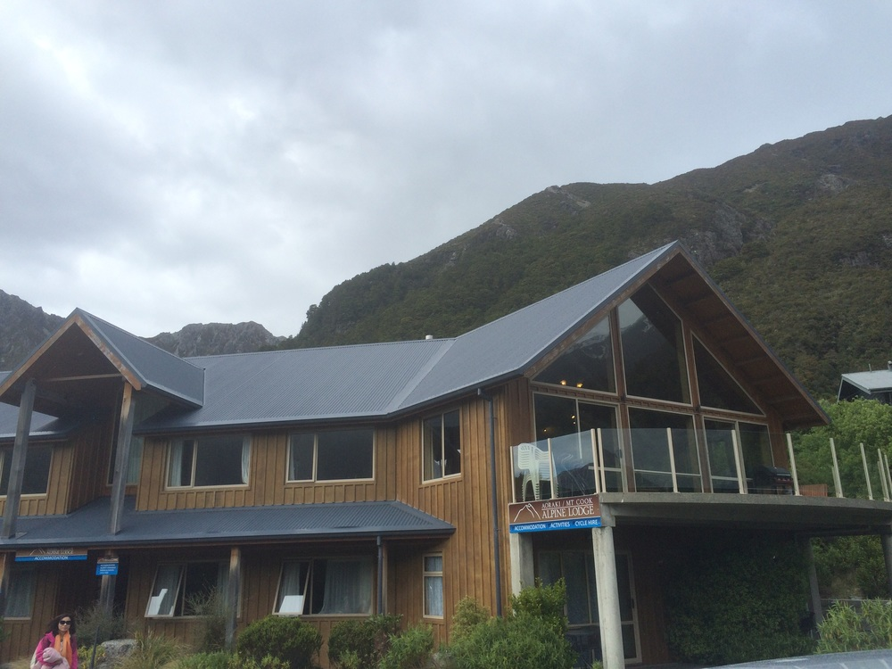 The Aoraki Mount Cook Alpine Lodge.