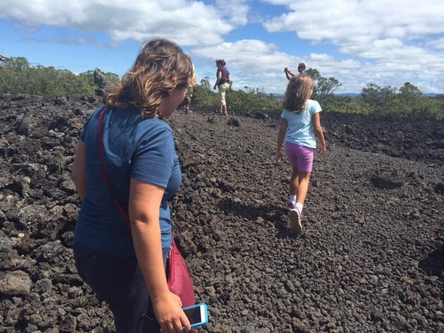 The lava fields on Rangitoto Island. It's amazing that vegetation can grow here!