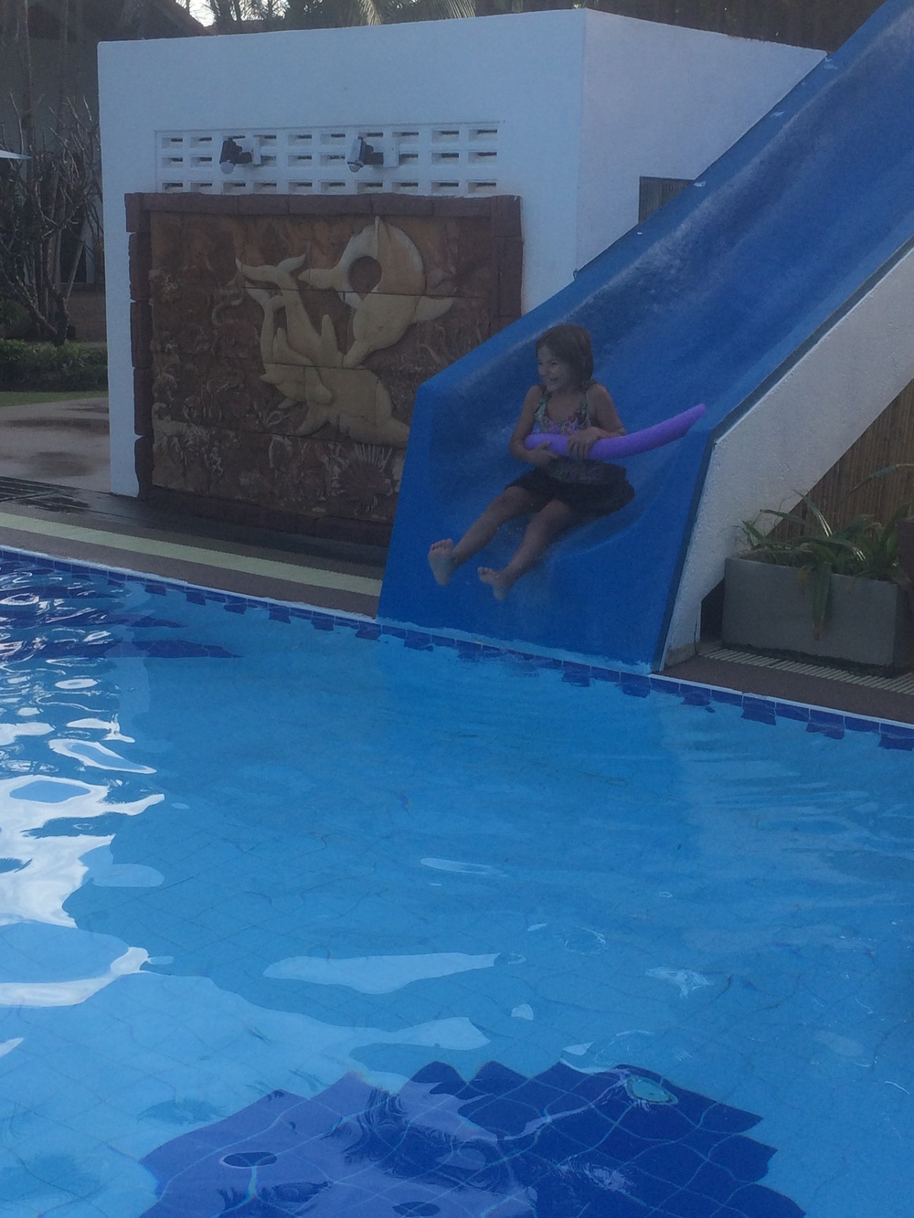 Another Hannah going down the water slide pic!