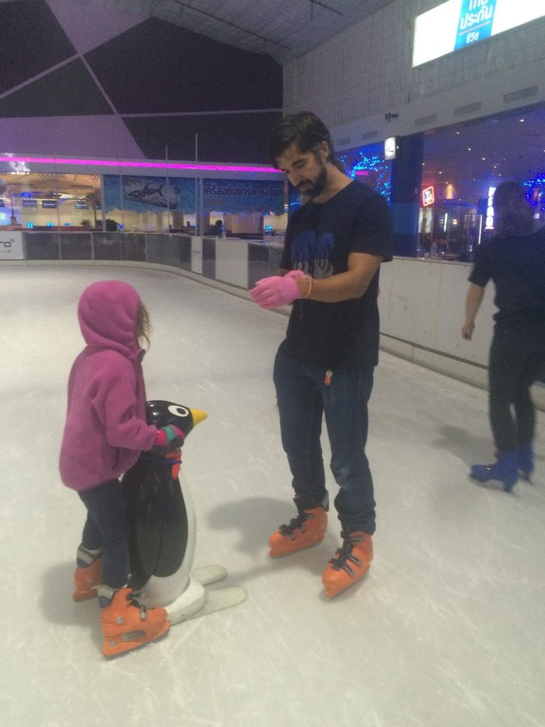 Anthony took to the ice rink too…Amy wouldn't have it any other way!