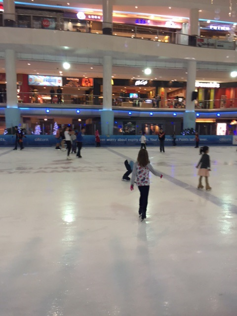 Yes, Amy got to go ice skating...after a full day at Sunway Lagoon. We were trying to avoid KL traffic, but it ended up being 9pm before she got on the rink!