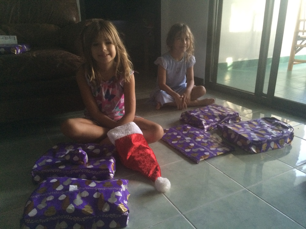The presents came even without a Christmas tree.