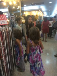 The girls at the Fashion Mall.