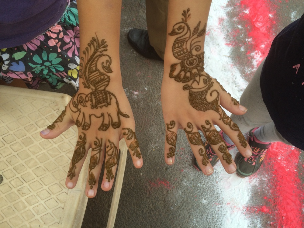 You can't go to India without getting henna!