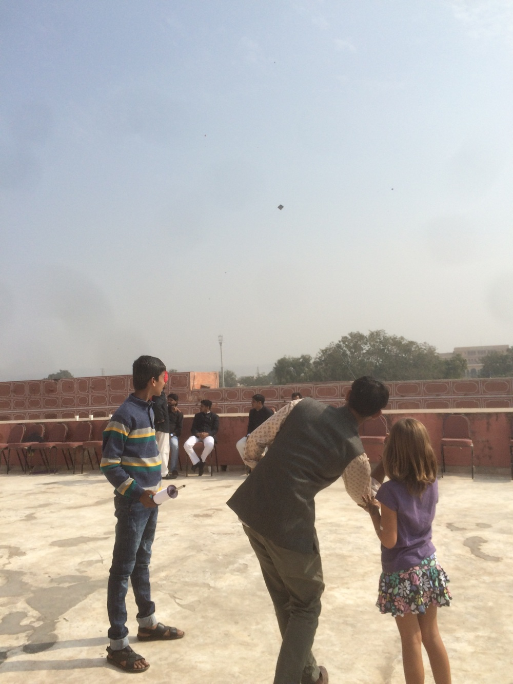 Kite flying at the City Palace