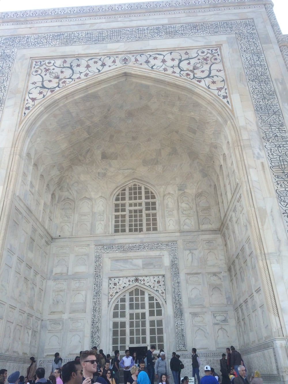 The Taj, in detail. While it is majestic, it's hard to believe that all of this was created to house one dead woman.