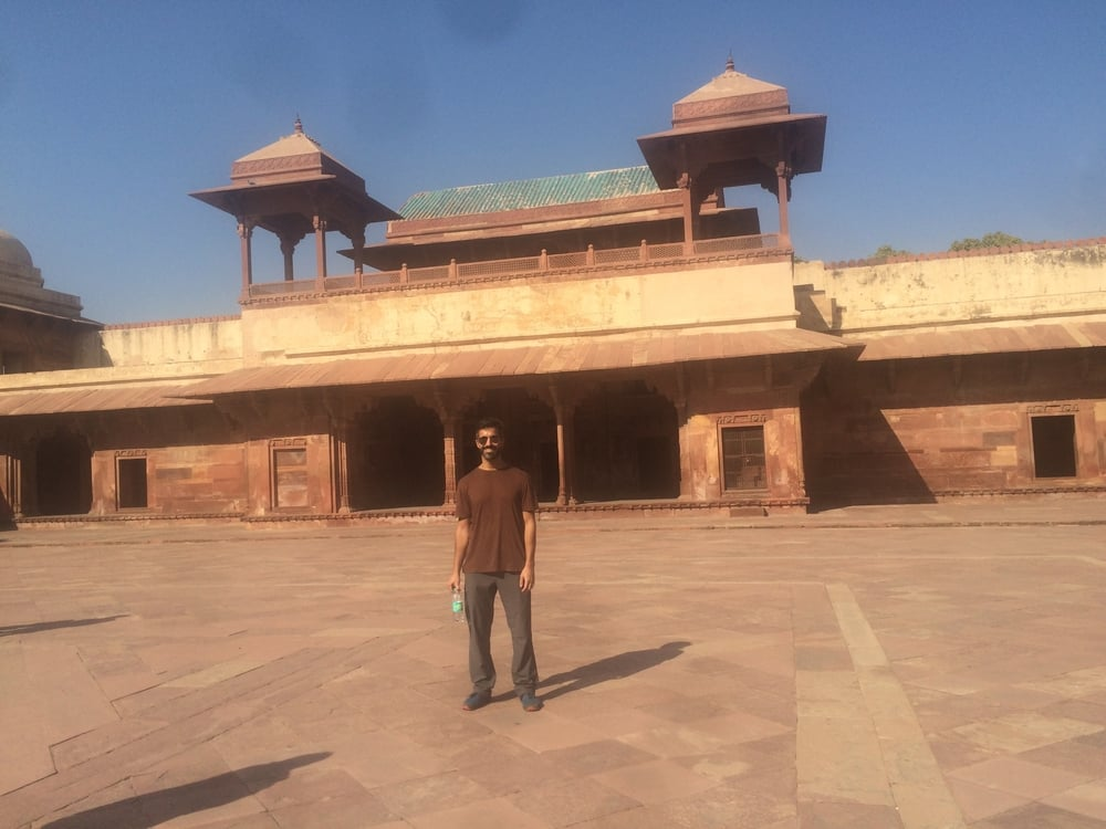 Anthony at Fatehpur Sikri
