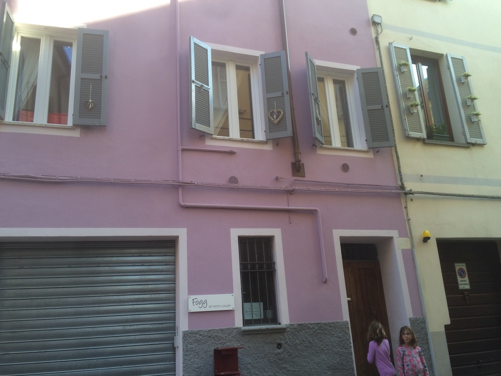This is the building we stayed in. That's our apartment on the first floor