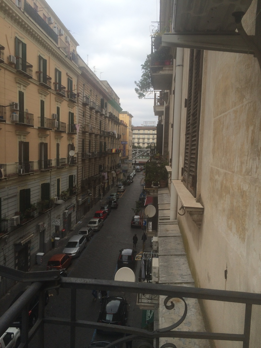 Our street in Naples. We are within walking distance of the Garibaldi Train Station and Piazza