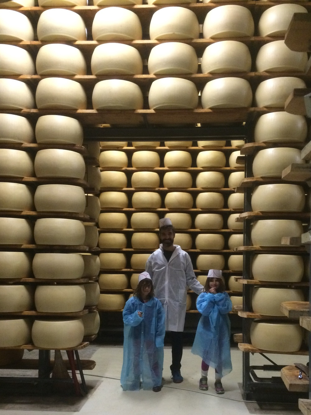 There's no shortage of Parmigiano-Reggiano here!