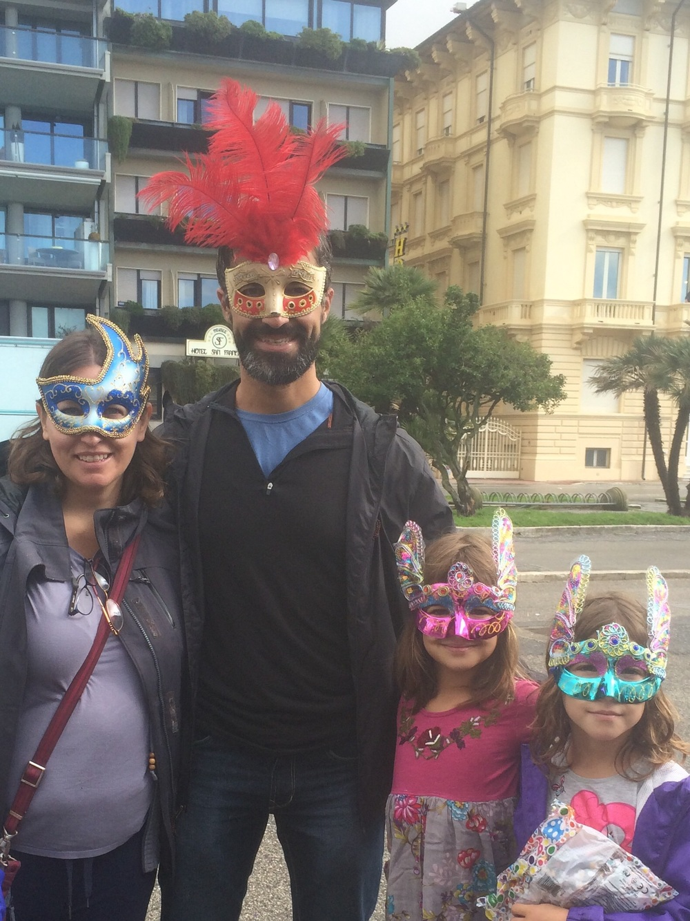 Carnevale is a time to dress up...kind of like Halloween!