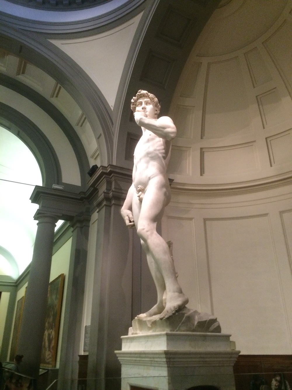 David of David and Goliath fame, though I don't think he was nude when he fought Goliath