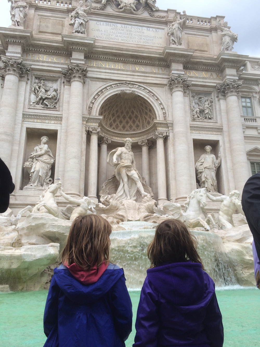 Checking out the Trevi Fountain