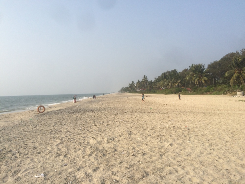 We went to Alappuzha beach to try and get a break from the humidity