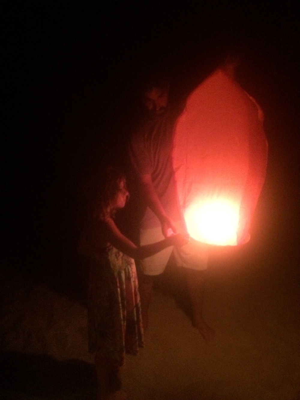 Anthony & Amy about to release the lantern