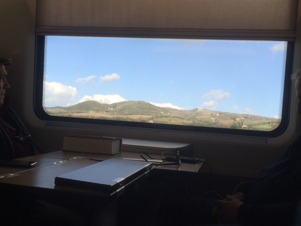 View from the Rome-Florence train.