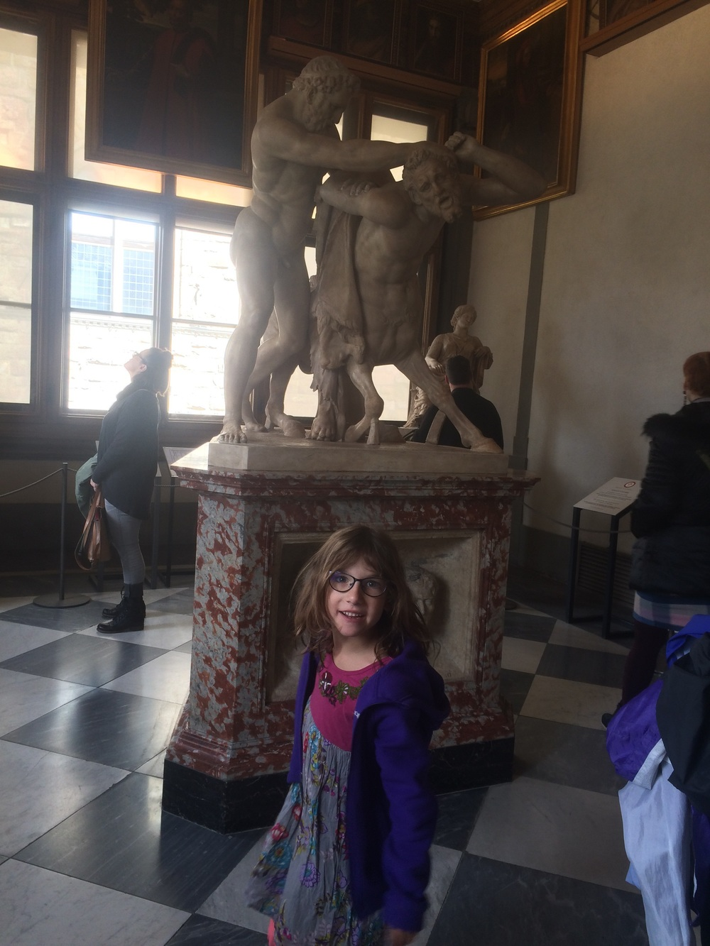 Amy showing me a Centaur, the symbol of Sagittarius (Amy's astrological sign).