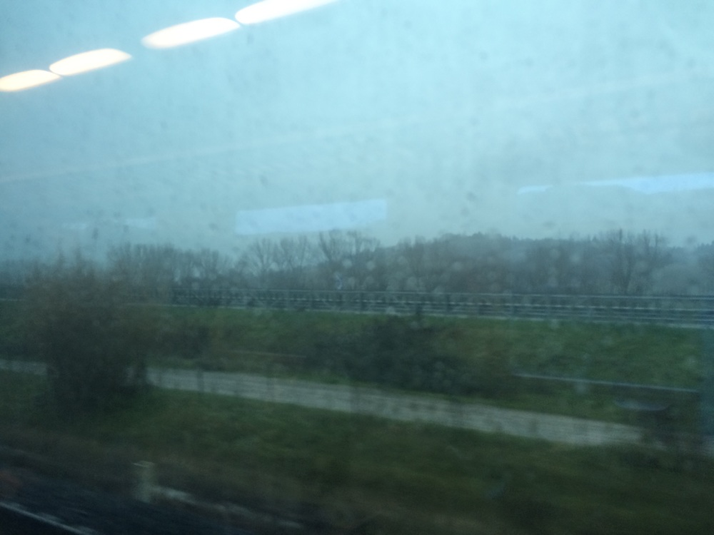 Train to Siena. It rained all day!