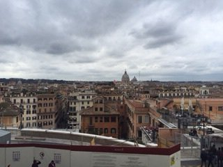 View from the Spanish steps, courtesy of Anthony
