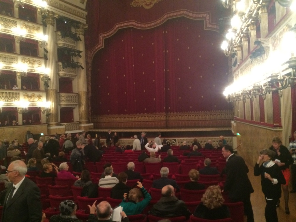 San Carlo Theatre in Naples. Our seats were on the right hand side