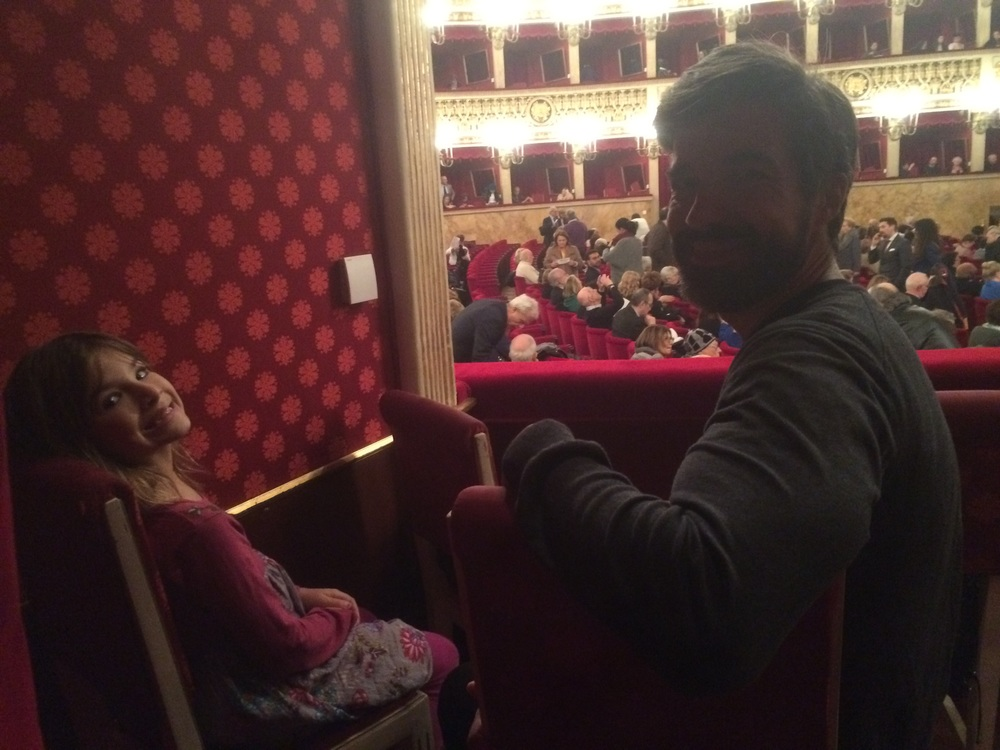 Anthony and Hannah at the opera. Amy and I were in the next box.