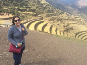 Packing List essential: ONNO bamboo t-shirt, Athleta jogging pants and long-sleeve layering piece. Pisac, Peru