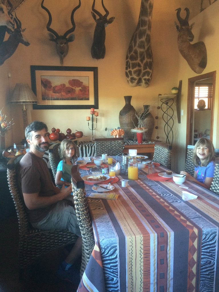 Enjoying breakfast at the Valley Bushveld Country Lodge