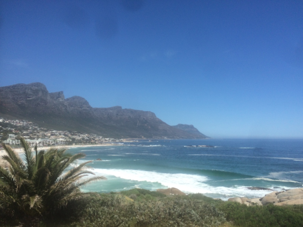 View of Cape Town coastline from Hop On Hop Off bus