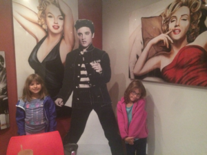 This was the girl's introduction to Elvis Presley and Marilyn Monroe!