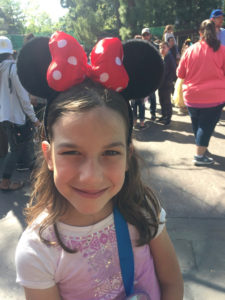 Amy and her Minnie ears
