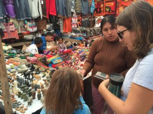 Amy & I at the market in Pisac