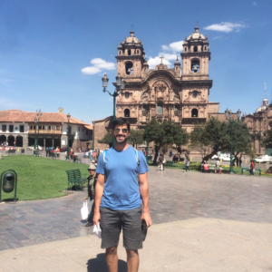 Anthony at Plaza de Armas