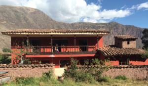 Our house in Sillacancha with the beautiful Andes mountains behind it.