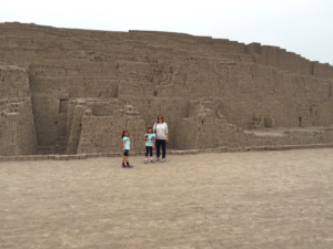 Remnants of a pyramid at Huaca Pucllana