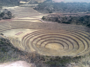 The Moray ruins. The circular pattern is unlike anything you'll see at the other Inca ruins.
