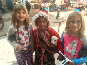 Hannah & Amy with a local Peruvian girl