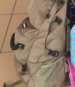 This is the backpack that was left on an Italian train, never to be seen again!