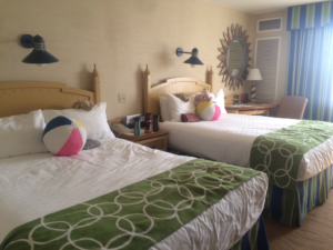 A standard room in Paradise Pier Hotel