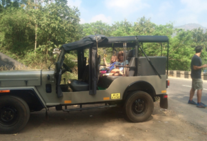 The jeep we rode in through a tour of Tamil Nadu