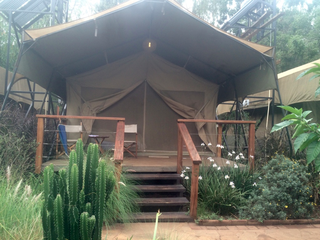Our tent at the Wildebeest Eco Camp