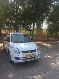 Tourist car that drove us to from Bharatpur to Jaipur.