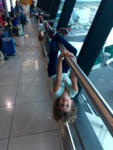 Look Dad, we're opossums! Fiumicino Airport, Rome, Italy