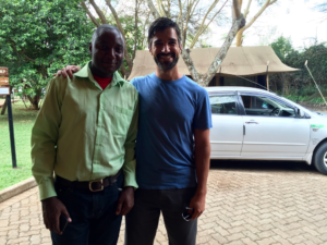 Anthony with our Nairobi driver George, here to take us to the airport - He was great. If you're going to be in Nairobi and need a good driver, let us know and we'll send you his #!