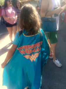 My youngest showing off her Wonder Woman Cape