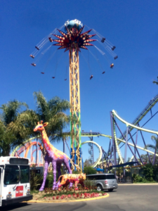 My youngest was still too short for SUPERMAN Ultimate Flight (red & yellow coaster) and Medusa (purple & green coaster), both of which offer THE FLASH Pass