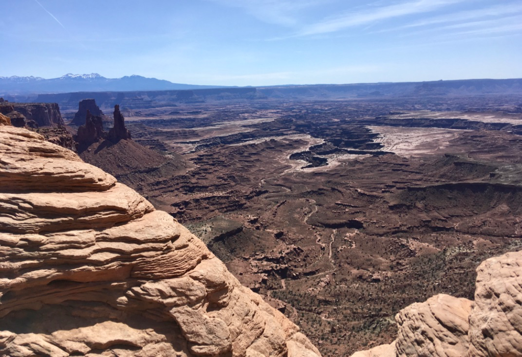 View of Canyonlands National Park from the Mesa Arch.